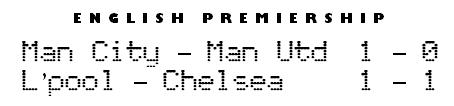 English Premiership scores