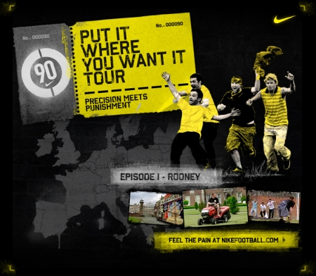 "Nike's ""Put it where you want it"" - episode 1: Rooney"