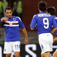 Claudio Belucci & Vincenzo Montella - the magic combination for the Blucerchiati's 2nd goal