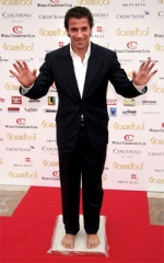 As a winner of the award, Del Piero was allowed to leave his foot print on the Champions Promenade in Monte Carlo