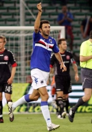 Gennaro Delvecchio after Sampdoria's 1st goal