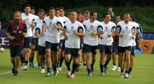 The Azzurri in a training session