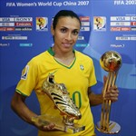 Marta - Best player and Top goalscorer of the competition