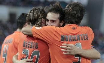 Emiliano Moretti, age 26, scored the winning goal for Valencia this week-end