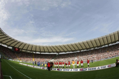 A great view of the Stadio Olimpico minutes before the match