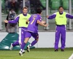 Franco Semioli celebrates his goal