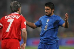 Gattuso is getting frustrated… Italy can't seem to pierce the Georgian lines