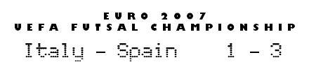Euro 2007 UEFA Futsal Championship: Italy 1-3 Spain