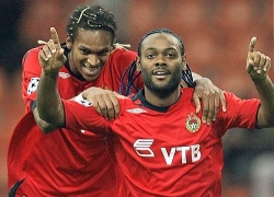 Jo and Vagner Love celebrate the early CSKA lead