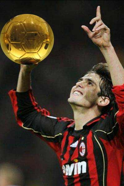 Kaka with the Golden Ball, PhotoShop artistry at work