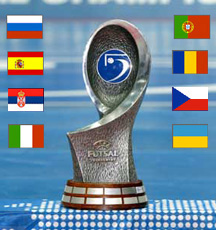 UEFA Futsal Championship trophy
