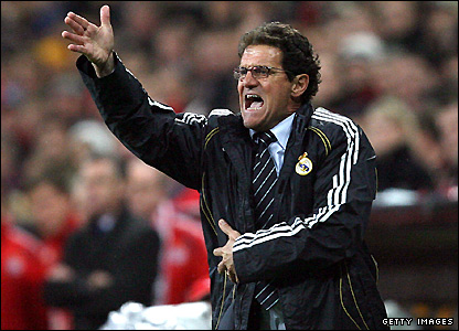 Capello has only a limited grasp of the English language but will get the message across in his own inimitable way
