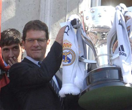 Capello's first spell as a Real Madrid manager in 1997. The first Spanish experience concluded with yet another Liga title for the Merengues