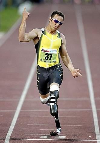 Oscar Pistorius - Double amputee sprinter