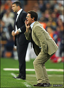 Fans can expect Capello to be more animated than England's previous foreign coach, Sven-Goran Eriksson