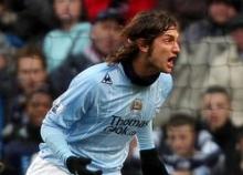 Rolando Bianchi celebrates after his goal to Bolton