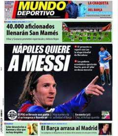 El Mundo Deportivo's printed edition - Napoli quiere a Messi