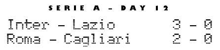 Serie A Matchday 12 - Lazio 3-0 Inter, Roma-Cagliari 2-0