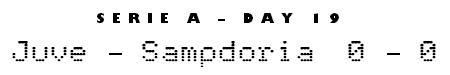 Serie A Matchday 19 - Juventus 0-0 Sampdoria