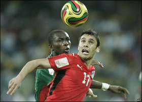 The deadlock ends in the 77th minute when Song's error allows Mohamed Zidan to find Aboutrika who sidefoots home
