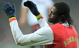 Disappointment for Emmanuel Adebayor… Arsenal were left scoreless at Emirates tonight