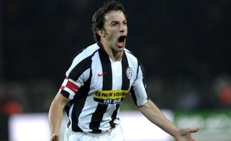 Alessandro Del Piero celebrates after his free-kick goal