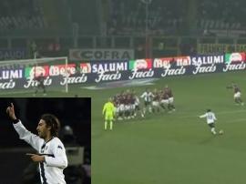 Andrea Gasbarroni's top-notch free-kick effort