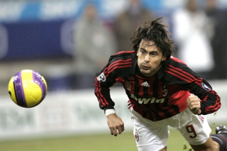 Inzaghi's winning diving header