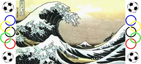 'The Great Wave off Kanagawa' (Kanagawa oki nami ura), the famous woodblock printing by the Japanese artist Hokusai.