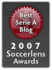 Soccerlens 2007 Awards - Best Serie A Blog