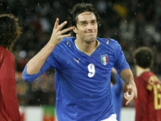 "Luca Toni and his traditional ""crazy hand"" celebration"