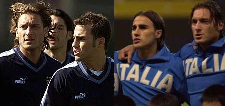 Francesco Totti & Fabio Cannavaro with the Italian national team