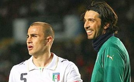 Fabio Cannavaro and Gianluigi Buffon vs. Spain (March 26, 2008)