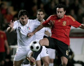 Gennaro Gattuso (left) and Xavi