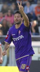 Massimo Gobbi celebrates. 1-0 Fiorentina.