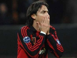Inzaghi can't believe his missed chance