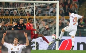 Kaká scores the goal putting AC Milan in the lead