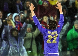 Zdravko Kuzmanovic celebrates after his goal