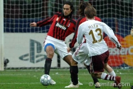 Alessandro Nesta tries to clear the defense