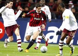 Alexandre Pato in action vs. Arsenal