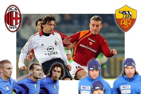 Daniele De Rossi vs. Andrea Pirlo (Roma vs. Milan)