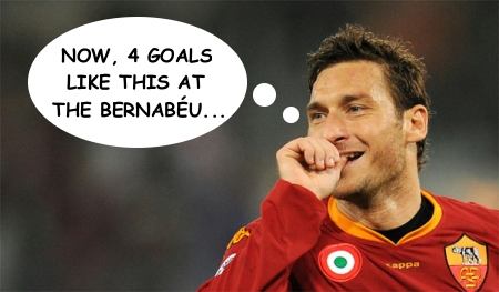 Totti's on a good run… can he keep it up in Spain on Wednesday?