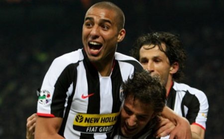 David Trezeguet celebrates the 2-0 goal vs. Inter Milan (March 23, 2008)