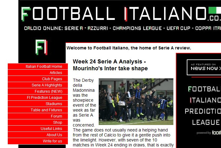 Football Italiano homepage