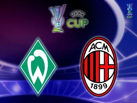 UEFA Cup 2008-09 - Werder Bremen vs. AC Milan