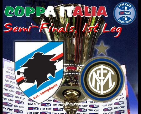 Coppa Italia 2008-09 - SF L1 - Sampdoria vs. Inter Milan