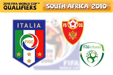 FIFA World Cup 2010 Qualifiers - Italy vs. Montenegro/Ireland