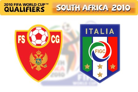 FIFA World Cup 2010 Qualifiers - Montenegro vs. Italy