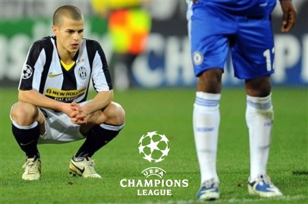 Juventus' Sebastian Giovinco reacts at the end of the Champions League round of 16 second leg soccer match against Chelsea in Turin, Italy, Tuesday March 10, 2009. (AP Photo)
